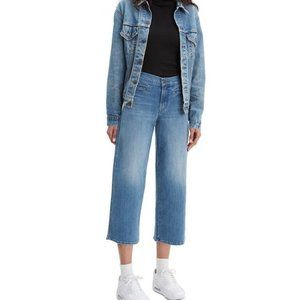 Levi's High Rise Cropped Wide-Leg Jeans Size: 29